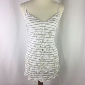 NWT Free People Tank Top Size Small Ivory Striped